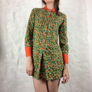 Vintage | 1960s floral mod dress